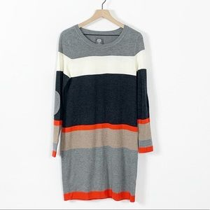 Vince Camuto Colorblock Long Sleeve Sweater Dress